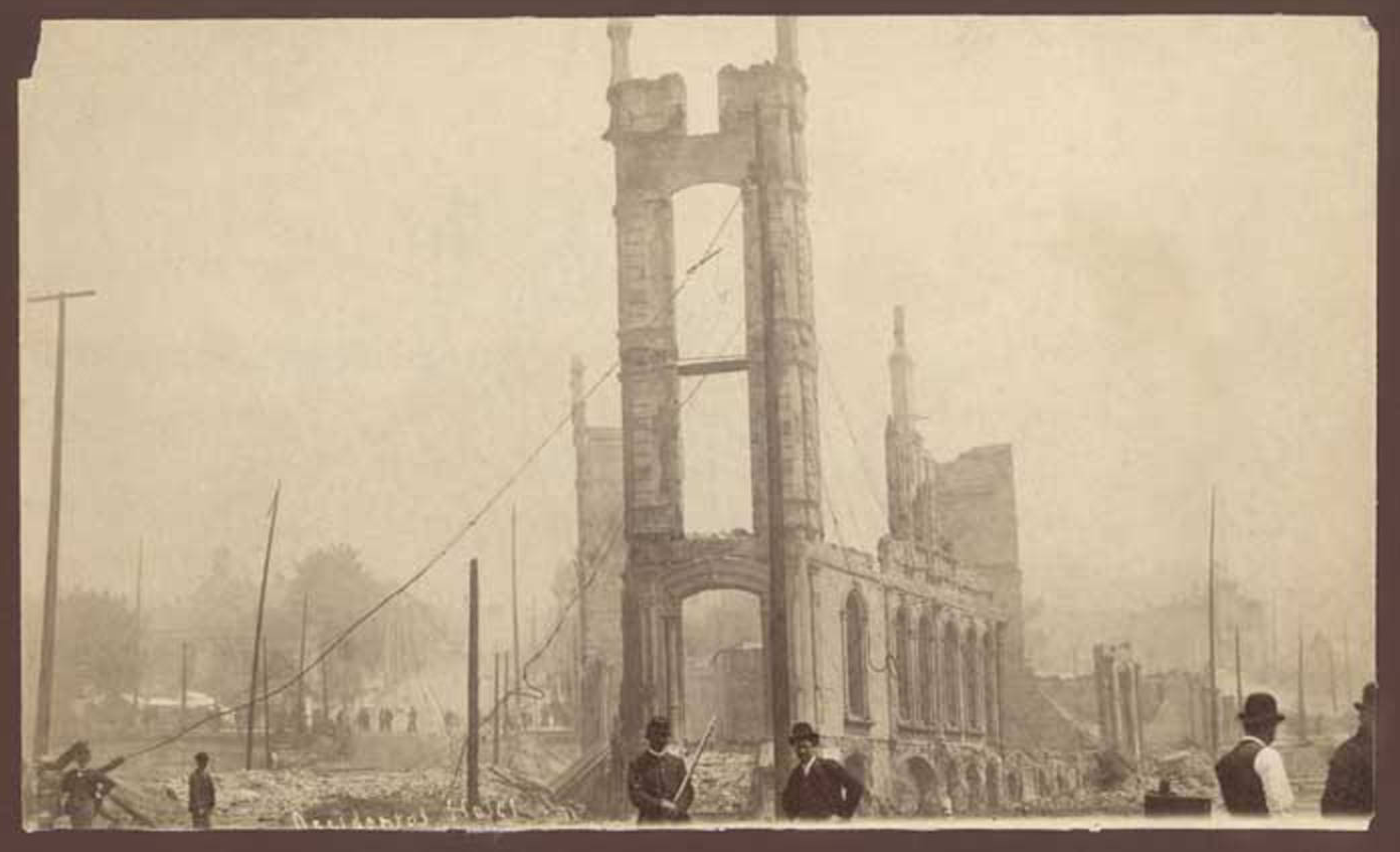 Ruins of the Occidental Hotel, June 1889.png