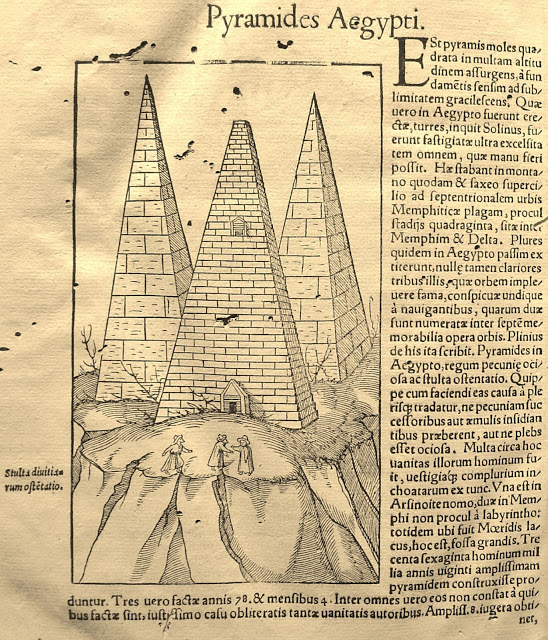 Illustration of the pyramids from Cosmographia - 1554, by Sebastian Munster.jpg