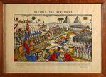 Bataille des Pyramides. Lithographie ancienne colorée signée Pellerin à Epinal, représenta...jpg